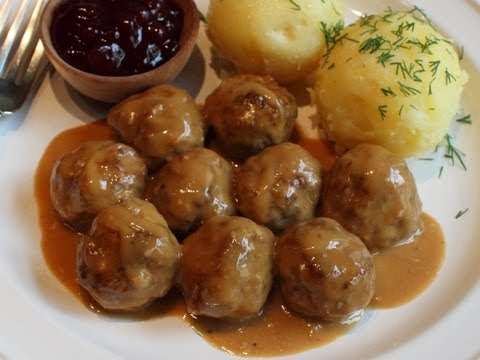 Thumbnail: Swedish Meatballs Recipe -- Beef & Pork Meatballs with Creamy Brown Gravy