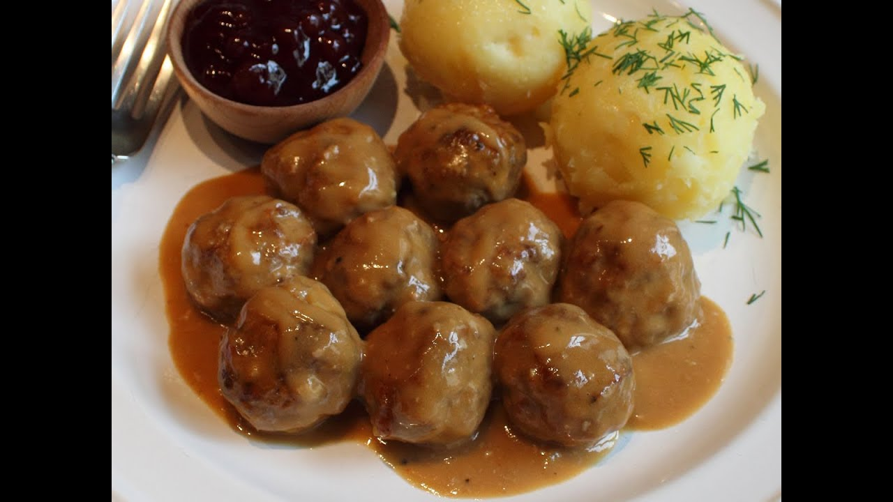 Swedish Meatballs Recipe -- Beef & Pork Meatballs with Creamy Brown ...