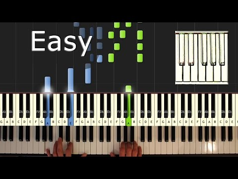 Counting Crows - Colorblind - Piano Tutorial Easy - How To Play (synthesia)