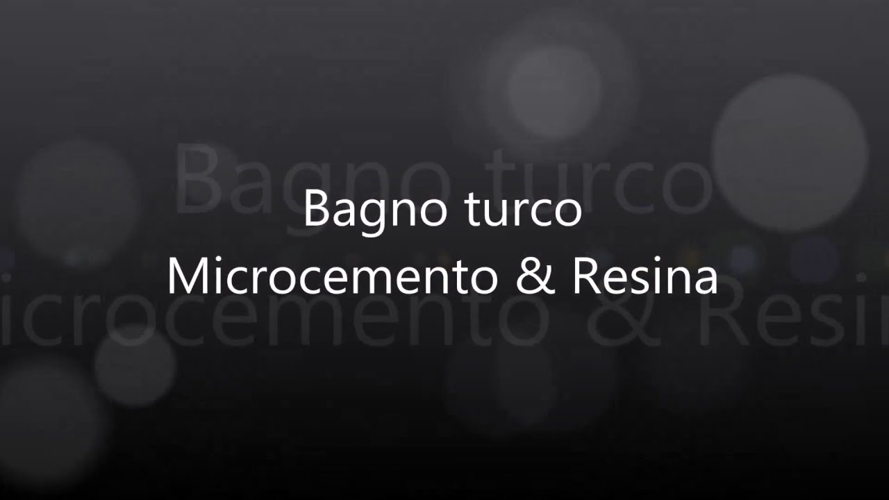 Bagno turco in resina youtube