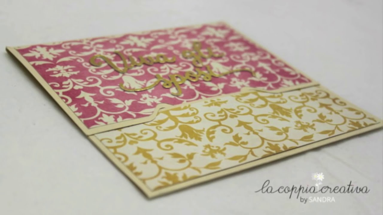 Amato Wedding Card with Envelope Punch Board - Scrapbooking Tutorial  KX32