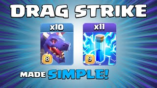11 x LIGHTNING SPELLS + 10 x DRAGONS = BASE CRUSHED!!! NEW TH13 Attack Strategy - Clash of Clans