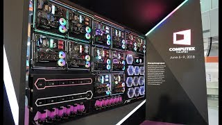 The Ultimate PC Wall - Cooler Master Inception, builds and new products at Computex 2018