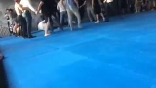 Массовая драка со стрельбой в спорт-зале Алматы 2015