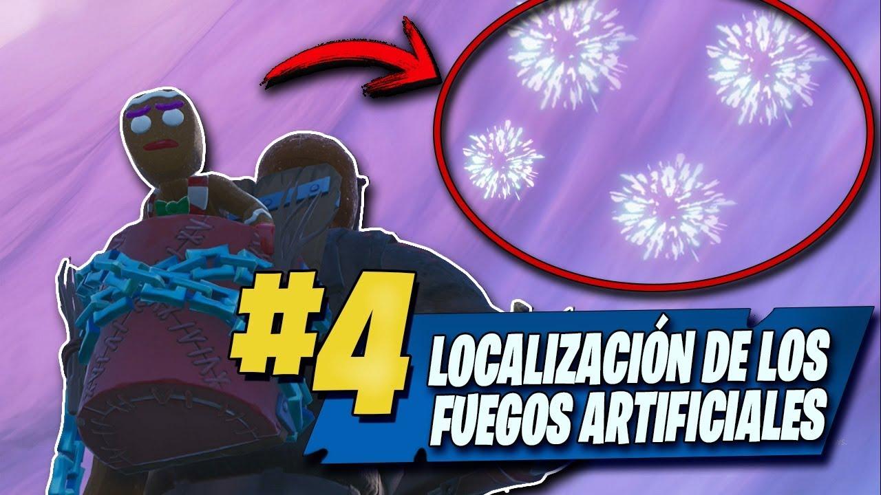 Lanza Fuegos Artificiales Fortnite Desafios Semana 4 Youtube