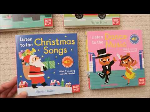 Listen to the Christmas Songs、Listen to the Dance Music 硬頁音效書