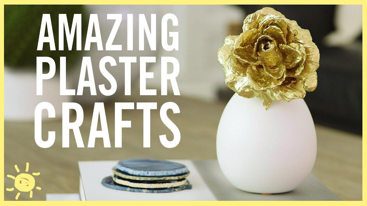 Diy 3 Amazing Plaster Crafts Youtube