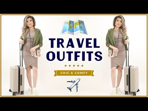 TRAVEL OUTFIT IDEAS 2018 | Casual Comfy Airport Travel Fashion Lookbook | Miss Louie