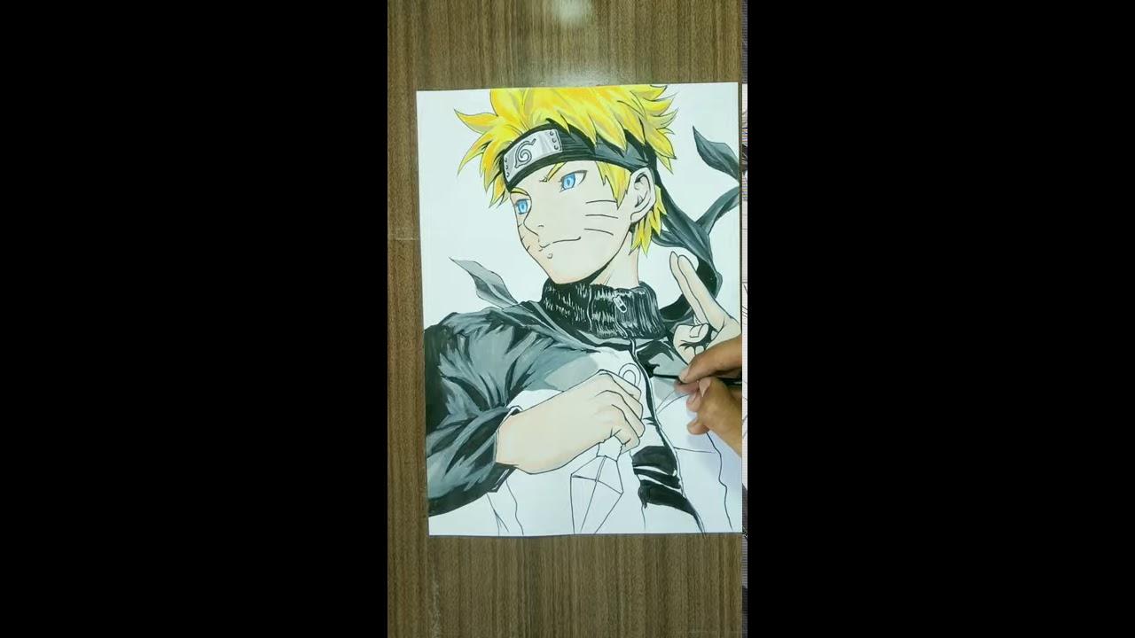 Drawing Naruto | Without Eraser | Shehzan Qureshi