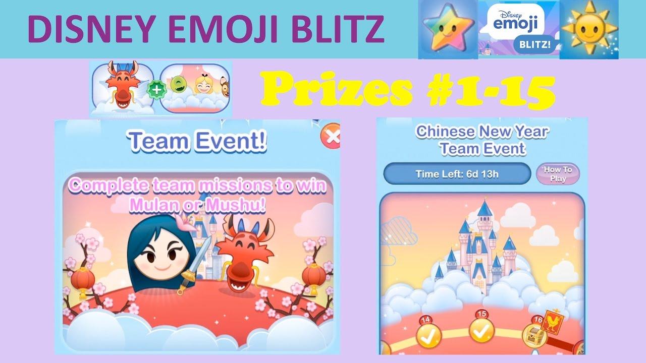 disney emoji blitz chinese new year team event with mulan and mushu prizes 1 15 youtube - Chinese New Year Emoji