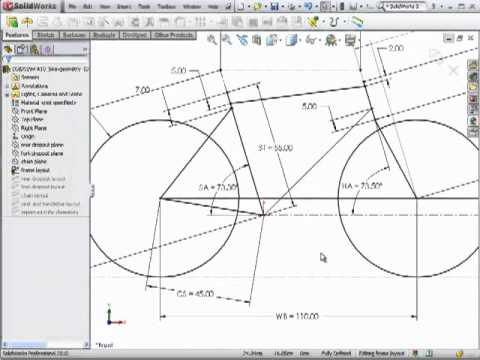 Dsid Fa10 Bicycle Frame Geometry Solidworks Tutorial Youtube