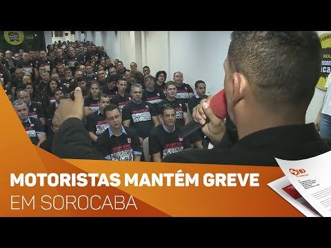 Motoristas de ônibus decidem manter greve em Sorocaba - TV SOROCABA/SBT