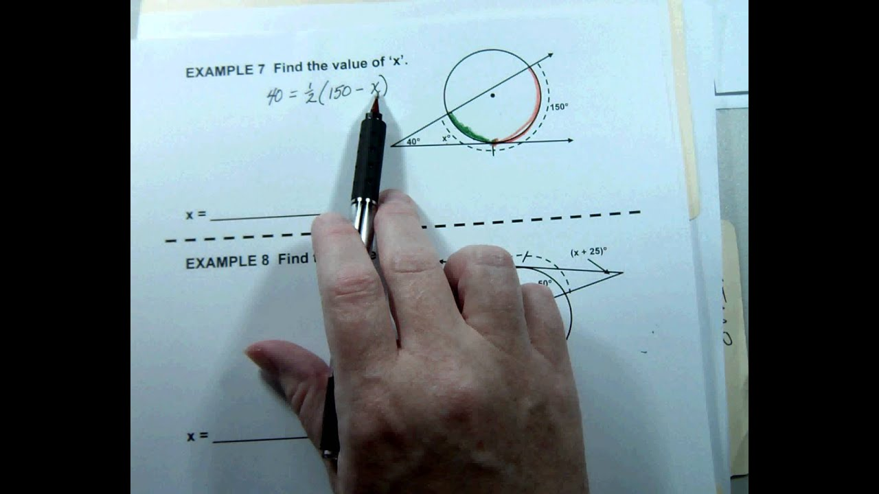 G2 Topic 6-2 Angles Formed by Secants & Tangents - YouTube