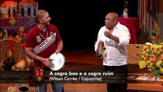 Rolando Boldrin conversa com Caju e Castanha no programa Sr. Brasil.