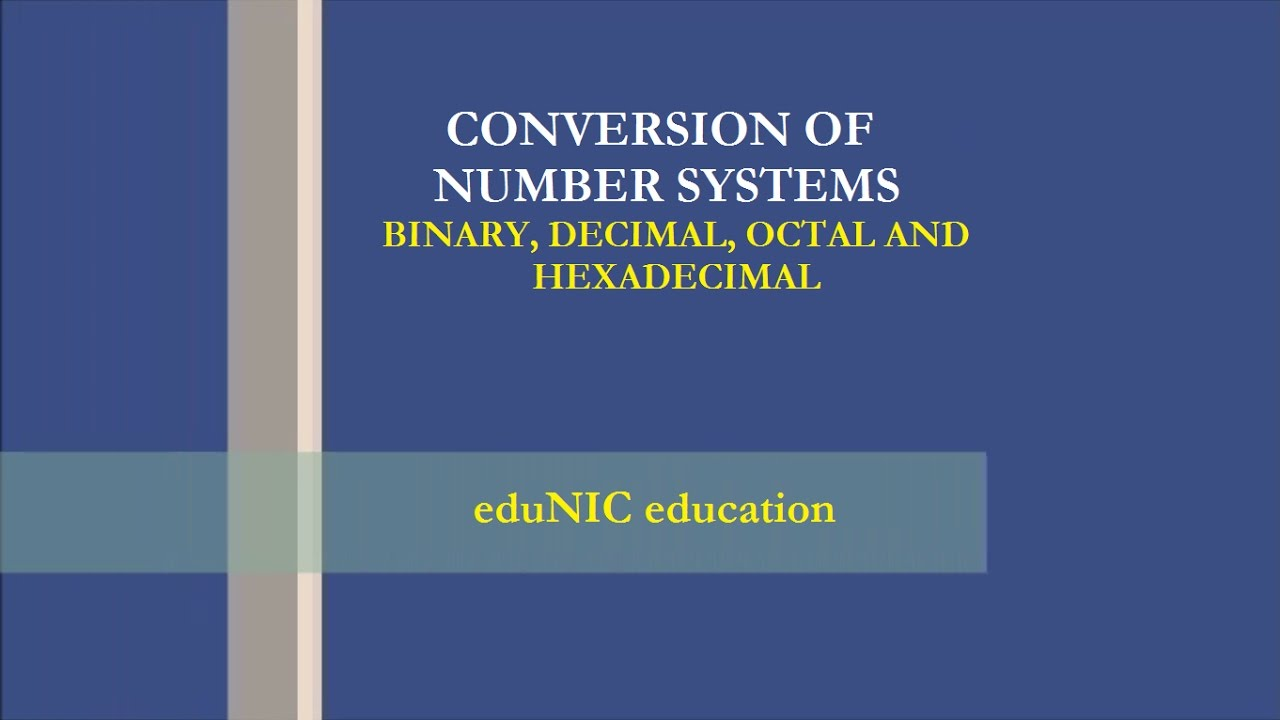 binary octal and hexadecimal number systems pdf