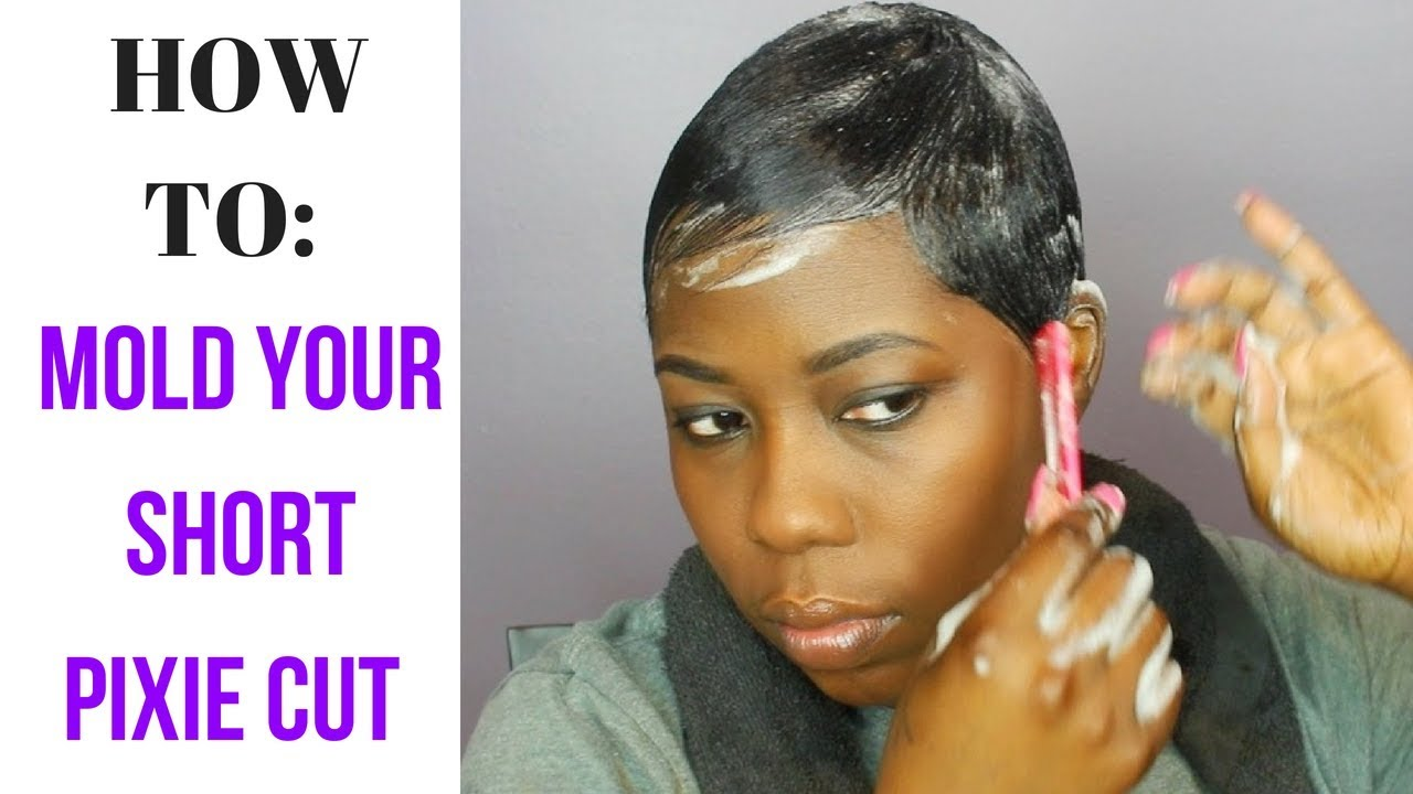 How To Mold Your Short Hair Pixie Cut Youtube