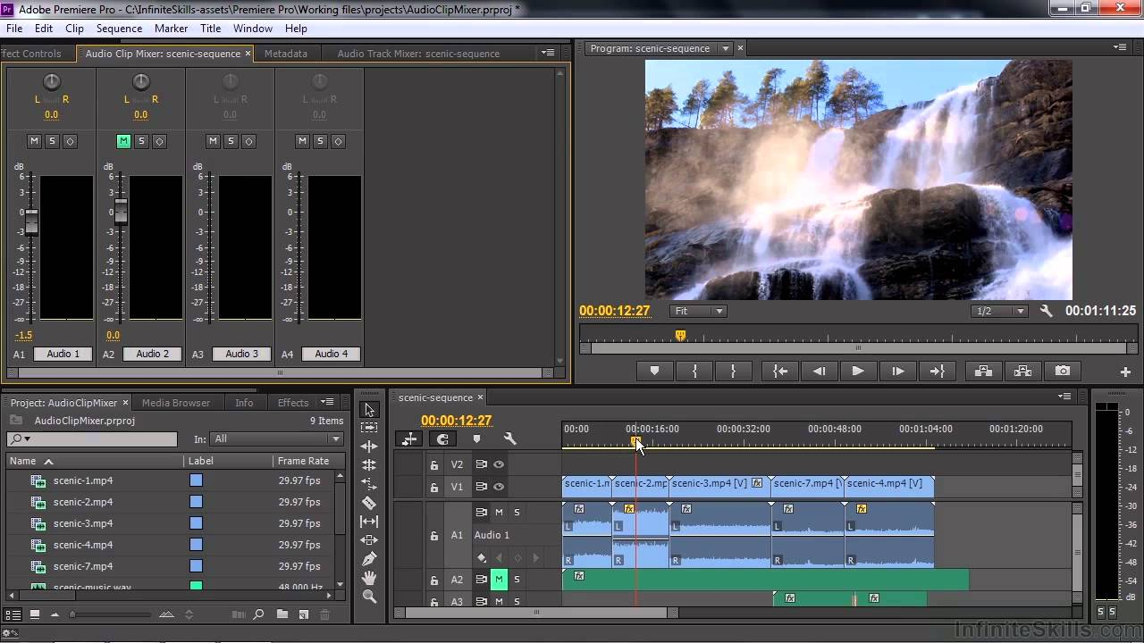 Adobe Premiere Pro CC Tutorial | Working With The Audio ...