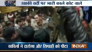 Advocates Thrash Policemen Inside Court Premises In Sitapur, UP