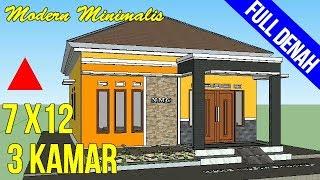 Gambar Denah Rumah Minimalis Sederhana Satu Lantai 3 Kamar