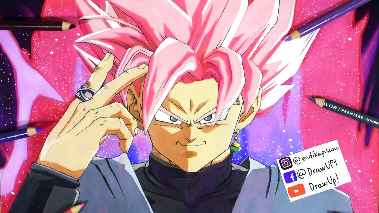 Cómo Dibujar A Goku Black SSJ Rose