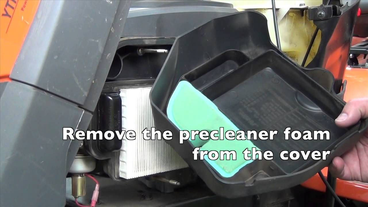 Kohler Airfilter Change - YouTube