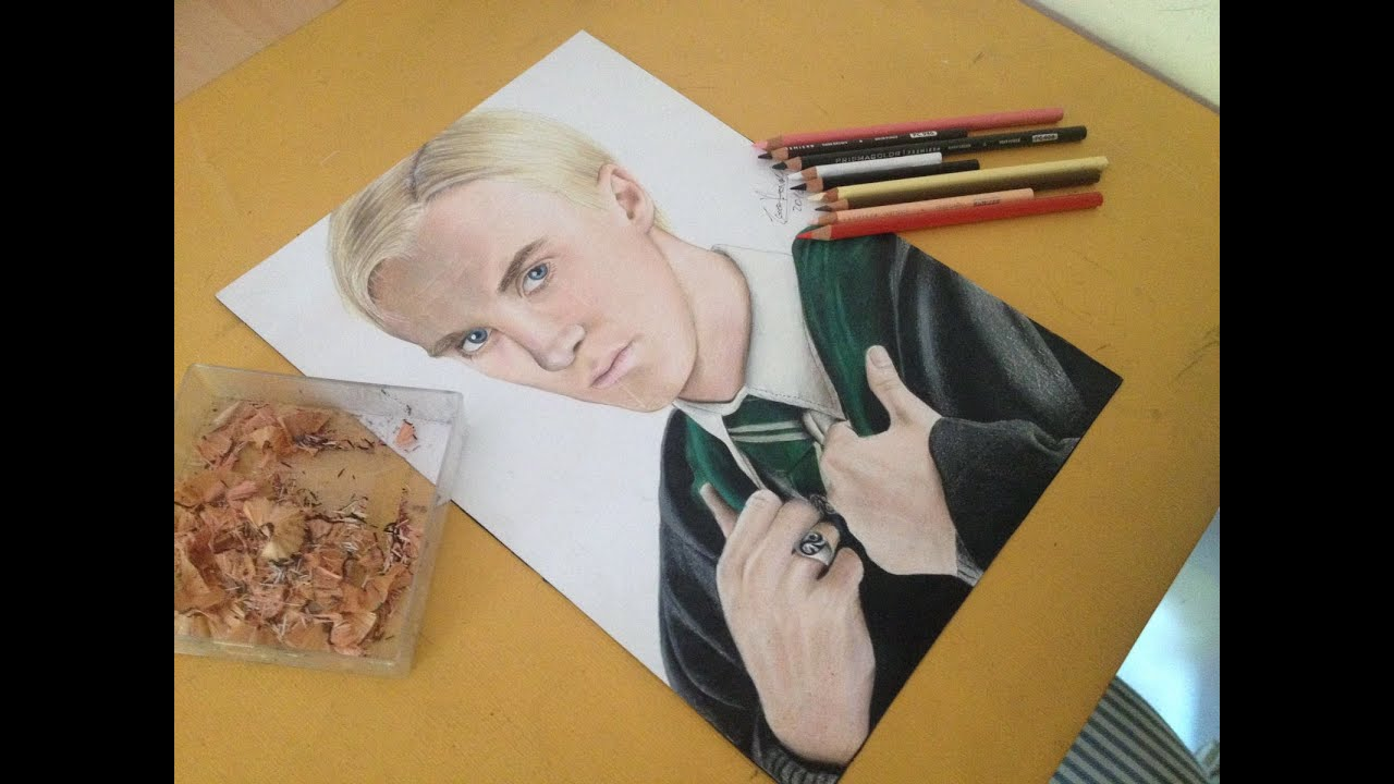 Drawing Draco Malfoy Tom Felton Youtube