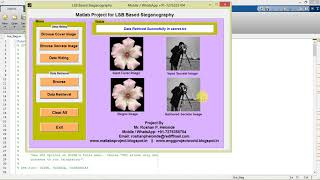 Matlab Project for Image Steganography Full Source Code
