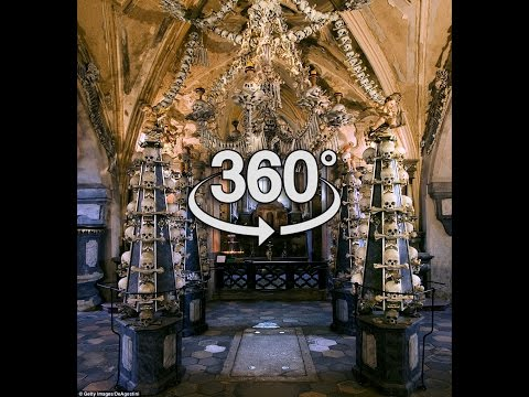 360 Sedlec Ossuary Bone Church - Kutna Hora, Czech Republic