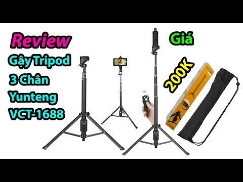 Mở hộp gậy Tripod 3 Chân Yunteng VCT-1688, giá rẻ cho anh em quay review vlog