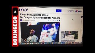 LIVE! FLOYD MAYWEATHER Vs CONOR MCGREGOR FINALIZED YAHOO SPORTS