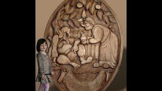 Резьба по дереву  оригинальные картины