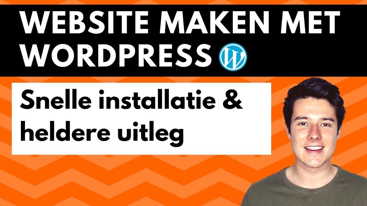 Website maken met WordPress  Wordpress voor beginners