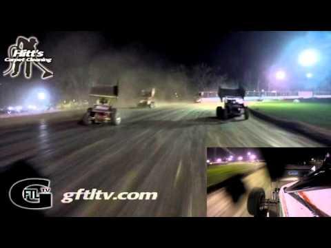 Dustin Purdy @ Fonda Speedway - CRSA Sprint Cars - Feature 4/23/16 (Josh Pieneziak Flip) - GoPro