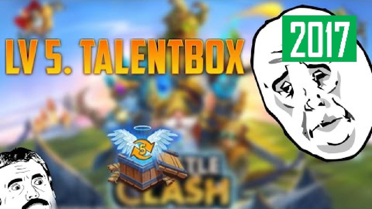 Level 5 Talentbox Schloss Konflikt Castle Clash Der Heiße
