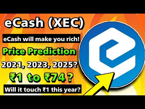 eCash (XEC) Future Price Prediction &  Projects🔥Will eCash Touch ₹1 to ₹74 ?