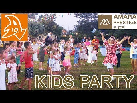 Amara Prestige 5* Детская вечеринка в Турции. Мини диско на природе. Mini Disco In Nature