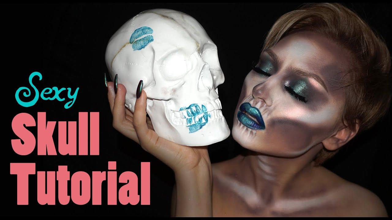 Halloween Skull Makeup Tutorial for Women   2016 - YouTube