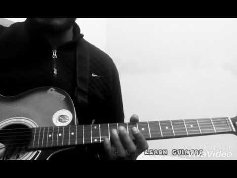 Raabta Cover easy guitar tabs lesson