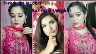 wedding guest makeup in hindi||Sunny and twinkle|#collabrationweek