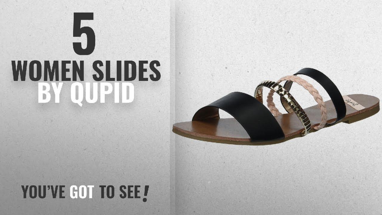 afe9737bf940 Top 5 Qupid Women Slides  2018   Qupid Women s Slide Flat Sandal ...