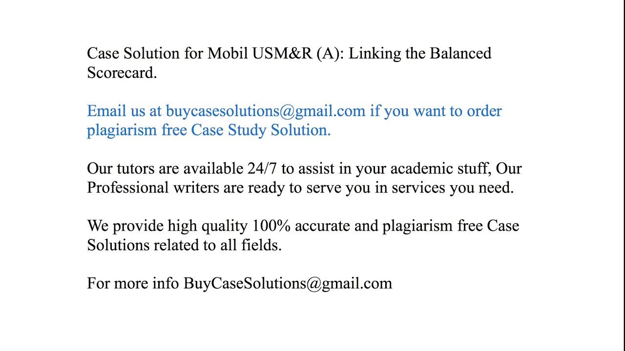 mobil usm&r case study