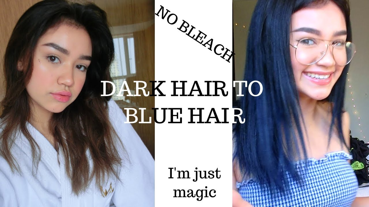 existential crisis Dyeing my Dark Hair Blue