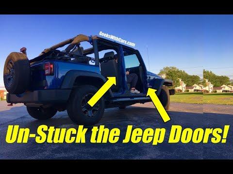 Trouble Taking Jeep Wrangler Unlimited Doors Off? | Jeep Wrangler Doors are Stuck! & Trouble Taking Jeep Wrangler Unlimited Doors Off? | Jeep Wrangler ... Pezcame.Com