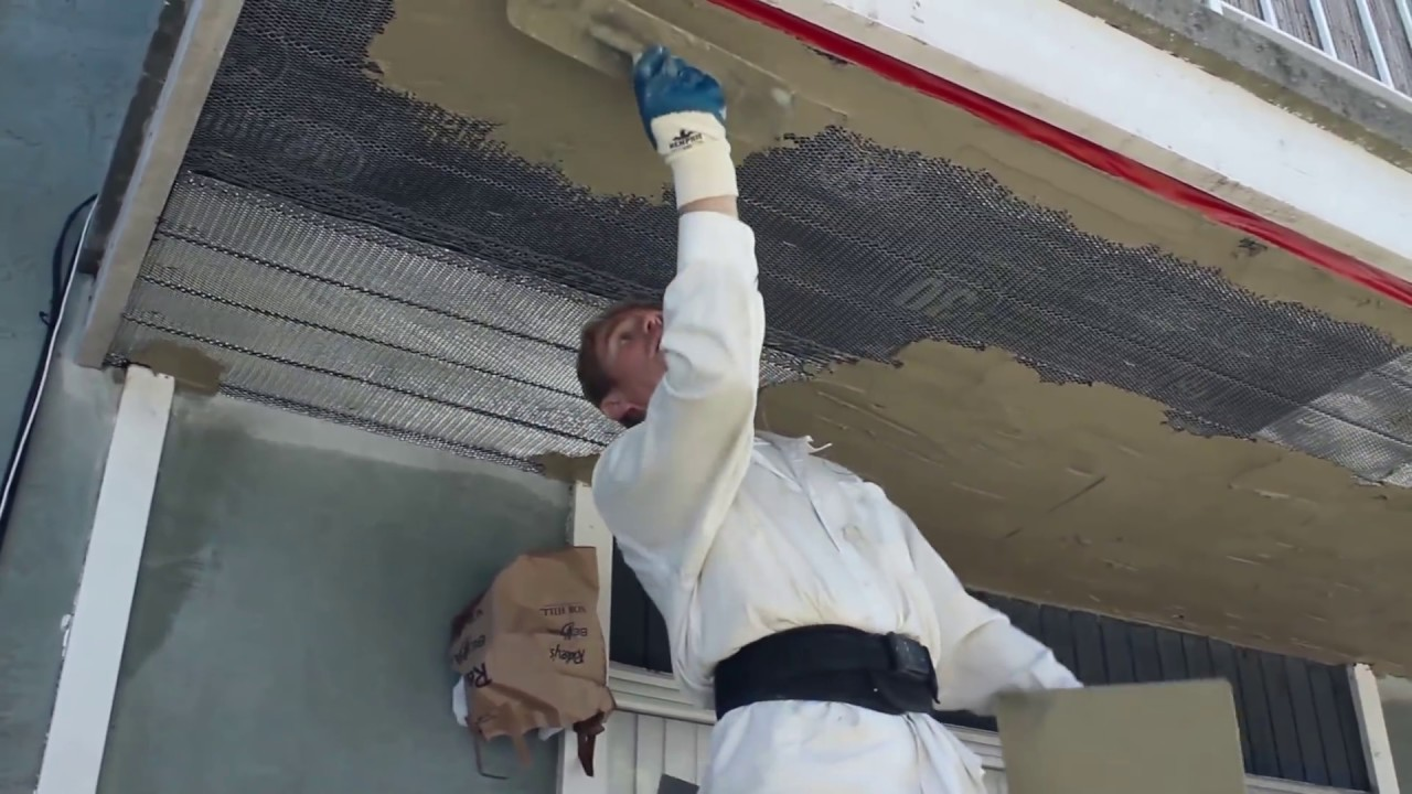 Professional Plastering Or Stucco On Any Ceiling Youtube