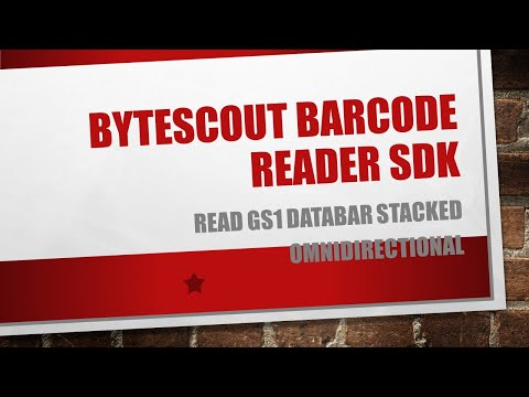 Read GS1 DataBar Stacked Omnidirectional With ByteScout BarCode Reader SDK