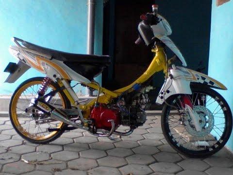 Motor Trend Modifikasi | Video Modifikasi Motor Honda Supra 100 cc Lock Drag Racing Style Terbaru