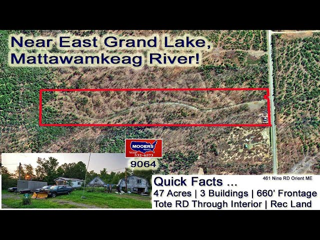 Land For Sale In Maine Video | 461 Number Nine RD Orient ME MOOERS REALTY #9064