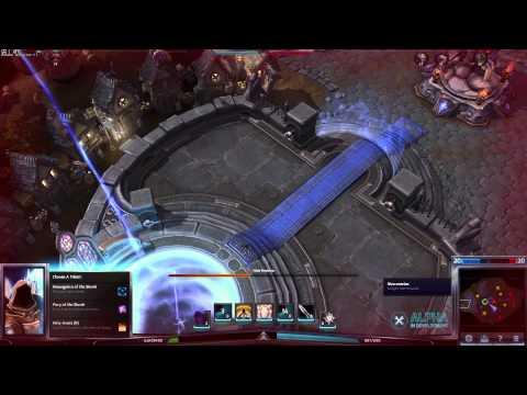 видео: heroes of the storm. Первый день Альфы. miker