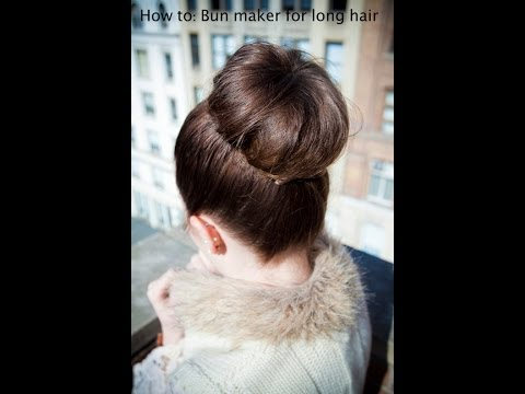 How To: Donut Bun For Long Hair  ♡