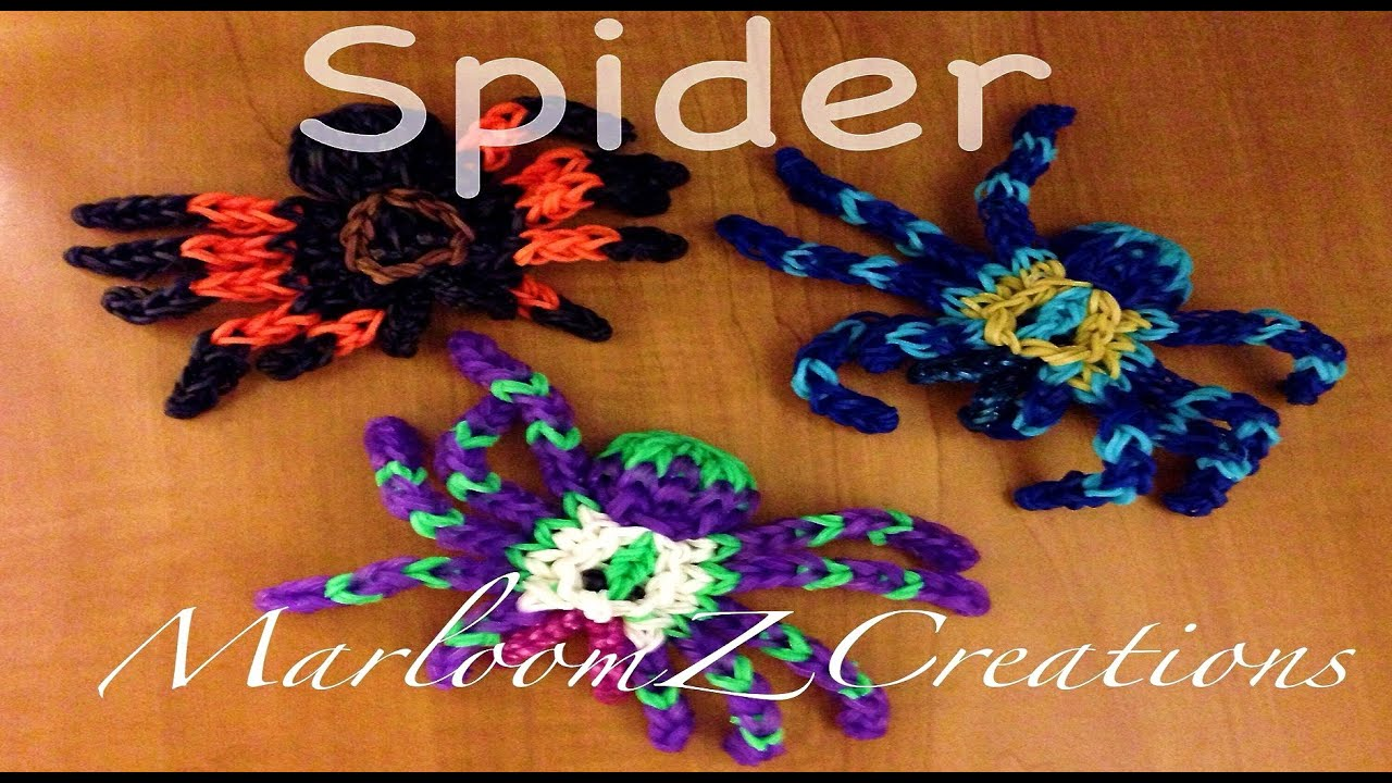 Rainbow Loom Spider Tarantula Youtube